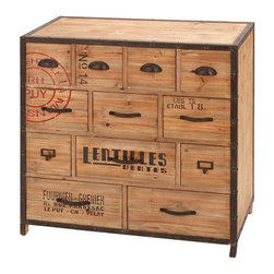 "Benzara - Iron Wood Metal Chest 33""H, 33""W - Size: 29 Wide x 12 Depth x 41 High (Inches) ; Material: Quality metal alloy and wood ; Color: Black with antique look ; Sturdy and tough industrial table; Multipurpose; Great storage and working space addition; Saves floor space"