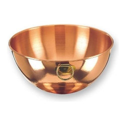 Old Dutch International - 10.5 in. Mixing Bowl - Traditional design. 4.5 Quarts. Made from solid copper and brass