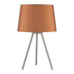 Weegee Small Table Lamp, Gold Silk Glow