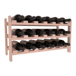 Wine Racks America - 18 Bottle Stackable Wine Rack in Redwood, White Wash Stain - Expansion to the next level! Stack these 18 bottle kits as high as the ceiling or place a single one on a counter top. Designed with emphasis on function and flexibility, these DIY wine racks are perfect for young collections and expert connoisseurs.