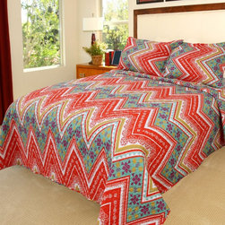 Lavish Home - Lavish Home Rhonda Quilt Set Multicolor - 66-10002-T - Shop for Bedding Sets from Hayneedle.com! Vivid colors and an intricate chevron design make the Lavish Home Rhonda Quilt Set just what your guest bedroom needs. The quilt is made of soft polyester with a cotton-and-poly blend fill. It includes one matching pillowcase with the twin and two for all other sizes.Dimensions:Twin: 68 x 86 in.Full / Queen: 86 x 86 in.King: 101 x 86 in.About Trademark Global Inc.Located in Lorain Ohio Trademark Global offers a vast selection of items for your home and lifestyle. Whether you need automotive products collectibles electronics general merchandise home and garden items home decor housewares outdoor supplies sporting goods tools or toys Trademark Global has it at a price you can afford. Decor items and so much more are the hallmark of this company.