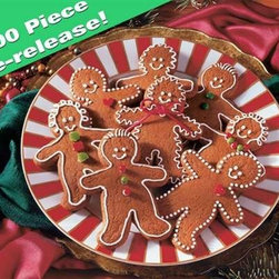 Gingerbread Goodies Puzzle - 1000 Piece Jigsaw PuzzleTry some gingerbread made for adults! Gingerbread Goodies, originally a 400-piece Family Format jigsaw puzzle from 2003, is all grown up now as a 1000-piece jigsaw puzzle. When you take it out of the box, you'll hardly recognize it. Imagine doing this one again now that you are ... bigger!