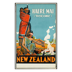 Custom Photo Factory - Haere Mai Welcome to New Zealand Canvas Wall Art - Haere Mai Welcome to New Zealand  Size: 20 Inches x 30 Inches . Ready to Hang on 1.5 Inch Thick Wooden Frame. 30 Day Money Back Guarantee. Made in America-Los Angeles, CA. High Quality, Archival Museum Grade Canvas. Will last 150 Plus Years Without Fading. High quality canvas art print using archival inks and museum grade canvas. Archival quality canvas print will last over 150 years without fading. Canvas reproduction comes in different sizes. Gallery-wrapped style: the entire print is wrapped around 1.5 inch thick wooden frame. We use the highest quality pine wood available. By purchasing this canvas art photo, you agree it's for personal use only and it's not for republication, re-transmission, reproduction or other use.