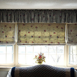 Insulated Roman Shade - DIY - Roman shade has professional appearance and it is insulating.  Roman Shades can be made in less than 2 hours using available customized kits and free instructions.  Photo by FAE