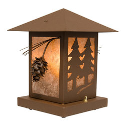 Steel Partners Inc - Table Lantern - PINECONE - Every piece we create is unique — handcrafted at our factory in Chehalis, Washington, USA. Due to this, lead times are 2 to 4 weeks.