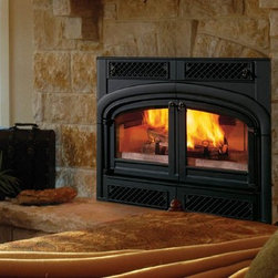Vermont Castings EWF36A Sequoia Series 43'' x 52'' Wood Burning Fireplace - Heat your home in style. This fireplace heats up to 2,500 sq. ft. as efficiently as a wood stove, plus, it's EPA Phase II certified!