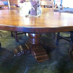 """Furnishing of Mesquite wood - 72"""" round dining table  2"""" thick"""