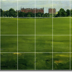 Picture-Tiles, LLC - The Common Central Park Tile Mural By William Chase - * MURAL SIZE: 32x48 inch tile mural using (24) 8x8 ceramic tiles-satin finish.