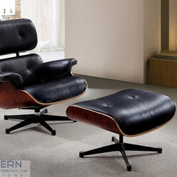 Reproduction of Eames chair - Reproduction of famous Lounge Chair with Ottoman Eames.