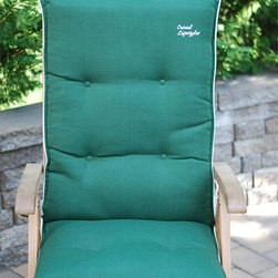 None - High Back Patio Chair Cushion (Set of 2) - This high-back patio chair cushion was designed for a soft and comfortable feeling,making your afternoon teas even more pleasant. The durable,water-resistant fabric assures long lasting protection,making this cushion suitable for any weather.
