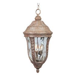 Maxim Lighting - Transitional Three Light Up Lighting Outdoor Pendant - Poetic, yet unpretentious, the Whittier hanging lantern warms the night air with an idyllic glow.