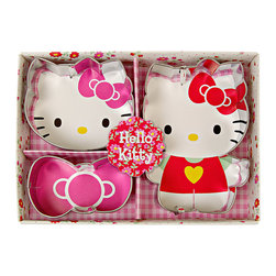 Hello Kitty - Hello Kitty Daisy Cookie Cutter Set - Bring some Hello Kitty cheer to your baking projects with these Hello Kitty cookie cutters that make the cutest confections around.   Includes three cookie cutters 3'' W x 1'' H Stainless steel Imported