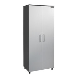 Black & Decker - Black & Decker Garage and Workshop 2-door Wood Storage Cabinet - This Black & Decker garage storage cabinet provides easy and affordable storage solutions. With two doors for easy accessibility, this durable cabinet also features two fixed and three adjustable shelves for added storage and organization.
