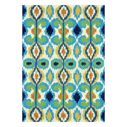 """Loloi - Indoor/Outdoor Enzo 2'3""""x3'9"""" Rectangle Ivory-Blue Area Rug - The Enzo area rug Collection offers an affordable assortment of Indoor/Outdoor stylings. Enzo features a blend of natural Ivory-Blue color. Handmade of Polypropylene & Polyester the Enzo Collection is an intriguing compliment to any decor."""