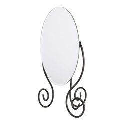 Sigga Heimis - MYKEN Table mirror - Table mirror, dark brown