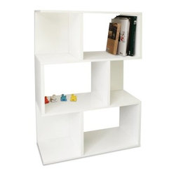Way Basics Madison Bookcase and Room Divider - White - The Way Basics Madison Bookcase and Room Divider - White adds style and functionality to any home or office. Seven shelves offer enough space to keep things attractive and organized while its ample size makes it a welcome way to break up open space in larger rooms. Assembly is simple; just peel and stick the special 3M Brand adhesive strips and fit the pieces together. No tools required. Paper dowels and alignment pins ensure a quick and easy fit. It's also easy on the planet because it's manufactured from durable zBoard recycled paperboard making it amazingly strong lightweight and water-resistant. Best of all it's completely recyclable. Maximum weight limit per shelf is 50 pounds. About Way BasicsWay Basics is an innovator of eco-friendly furniture and has been creating a wide variety of products using recycled materials for their customers to enjoy in the home and office. Their products require no tools to assemble and are designed to add style and function to any space without leaving a heavy footprint on the environment. Way Basics also works with furniture banks and charities around the globe to help those families in need and is a founding member of the Sustainable Furnishings Council a coalition united to promote environmentally healthy practices in the industry.