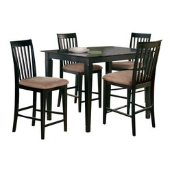 Atlantic Furniture - Atlantic Furniture Montego Bay 5 Piece Pub Height Dining Set-Espresso - Atlantic Furniture - Dining Sets - AD81121231