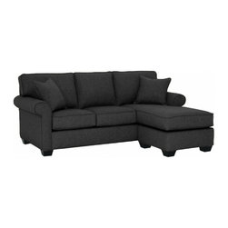 Apt2B - Lafayette Revers. Chaise Sofa, Charcoal, 85x38x32 - With a simple, classic style that goes with everything and a cozy design that feels relaxed and homey, this sofa was designed to fit in to your life. The chaise ottoman is the perfect place to kick back and can be moved to the right or left. The textured, neutral fabric upholstery is simple and sophisticated for easy decorating.