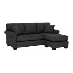 Lafayette Revers. Chaise Sofa, Charcoal