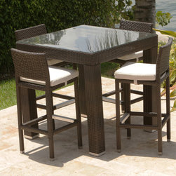"""BIG BOX OUTDOOR AND PATIO - outdoor bar set with 40"""" square table"""