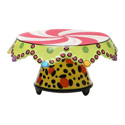 """ATD - 10.25"""" Medium Leopard and Candy Design Cake Stand And Chip and Dip Set - This gorgeous 10.25"""" Medium Leopard and Candy Design Cake Stand And Chip and Dip Set has the finest details and highest quality you will find anywhere! 10.25"""" Medium Leopard and Candy Design Cake Stand And Chip and Dip Set is truly remarkable."""