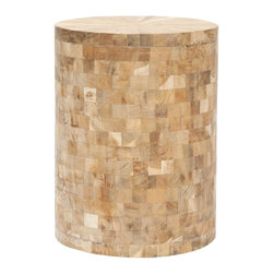 Safavieh - Lola Stool - It's a natural choice. The stool pairs a chic geometric pattern with organic style. Its reclaimed teak with light maple finish brings just the right amount of whimsy to a stark, minimalist room, and feels just as at home with the furnishings of modern masters.