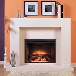 Marble Fireplace Mantels - Albany - A modular contemporary piece, the Albany marble fireplace surround exudes refined class. Hand carved by master artisans, this is one beautiful accent piece.