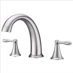 Ultra Faucets - Ultra Faucets UF65203 Two-Handle Tub Faucet - Two-handle design for precise temperature adjustment