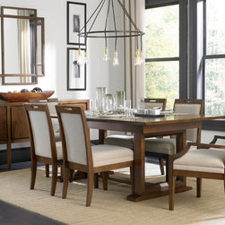 Broyhill - Suede Dining Room Set - 8051-551-ROOM - Set Includes Table and 4Side Chairs