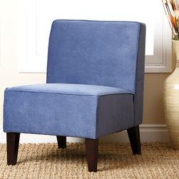 Abbyson Living - Abbyson Living Blue Becca Velvet Chair - Enjoy this luxurious blue velvet chair from Abbyson Living for years to come.