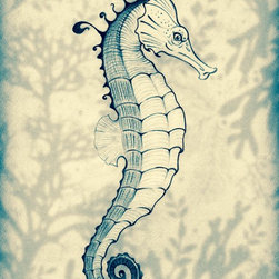 SeaHorse - This  beautiful print is based on an original watercolor painting by Estanides Gomez and reproduced to look as close to the original in color and texture as humanly possible by the artist himself.  Printed on archival ink paper for fine art reproductions and designed with an extremely smooth, acid free, natural white surface. Your print will arrive within 3 to 5 business days and will be shipped using acid free packaging to ensure that your purchase arrives clean and ready for framing.