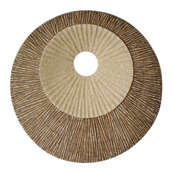 Screen Gems - Screen Gems Round Double Layer Ribbed Wall Plaque - 14 x 2 Inch (Set of 2) - The nature sand color finished Sandston wall Art - Set of 2 offers something truly unique for your interior space. The unpredictable process of decay is on display here as the wall art presents a cross-section of what a rotting tree might look like.
