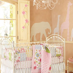 Lily Animal Decal Set - These beautiful fabric wall decals would be good for a nursery or playroom space.