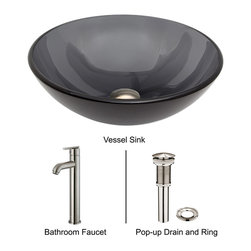 Vigo - Rectangular Brown and Gold Glass Vessel Sink and Wall Mount Faucet Set - The VIGO Rectangular Brown and Gold Fusion glass sink set with Antique Rubbed Bronze wall mount faucet brings a rich and classy style to your home.