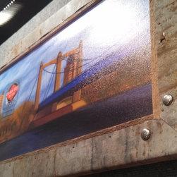 Grain Belt Bridge (Custom Framed, Canvas Print) - Grain Belt Beer Billboard, Minneapolis