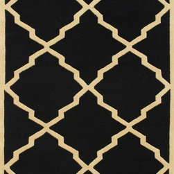 Alliyah Rugs - Alliyah Rugs Z n Z Rug Gallery 26051 (Black, Beige) 8' x 10' Rug - This Hand Crafted rug would make a great addition to any room in the house. The plush feel and durability of this rug will make it a must for your home. Free Shipping - Quick Delivery - Satisfaction Guaranteed