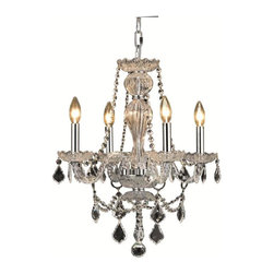 Elegant - Giselle Chrome Royal Cut Dining Room Chandelier - Classic, Old World look in an affordable price range makes this Giselle Collection impressive. This collection has a stunning crystal centerpiece with chrome or gold frames.
