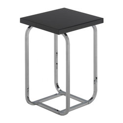 Matrix International - FRANKL Side Table Short - A very small scale side table designed by Paul Frankl around 1930. It is characterized by plain, essential lines connected by square metal tubing.