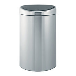 Brabantia Touch Bin®, 10.56 Gallon, Matte Steel (Fingerprint Proof)