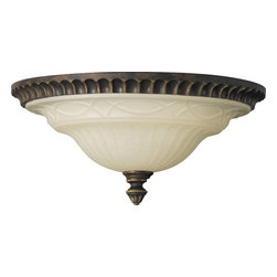 Murray Feiss - Murray Feiss Drawing Room Traditional Flush Mount Ceiling Light X-LAW962MF - With stunning craftsmanship, the metal frame is created with splendid rim details and covered in deep walnut finish. The Murray Feiss Drawing Room Traditional flush mount ceiling light features an amber snow scavo glass shade with charming ambient illumination. The casual fixture provides old world appeal with a touch of Edwardian style.