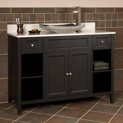 """48"""" Jenner Vessel Sink Vanity - Customize your luxury master bathroom suite by adding a vessel sink to this 48"""" Jenner Vanity."""