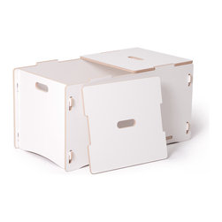 Quark Enterprises - Toy Box, White - A big toy box is an essential in a playroom. Parents appreciate anything that makes cleanup and organization with kids easier, right? Plus, this is one that kids can open and close themselves without risking pinched fingers.