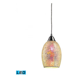ELK Lighting - One Light Satin Nickel Down Mini Pendant - One Light Satin Nickel Down Mini Pendant