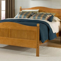 Bolton Furniture - Cottage Queen Bed w Essex Nightstand in Honey Finish - Includes Cottage queen headboard, footboard and side rails & Essex nightstand. Bed: 64 in. L x 85 in. W x 47 in. H. 3 Drawer Nightstand: 22 in. W x 19 in. D x 24 in. H. Assembly required. 1-Year warranty