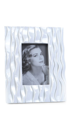 """Concepts Life - Concepts Life Photo Frame  Flowing Forward 4x6"""" - Make your photos stand out with our white textured frame from the Flowing Forward collection. The beautifully woven pattern on this white frame is both elegant and eye-catching. Makes a memorable gift for any occasion.  Modern home accent Contemporary white picture frame Beautiful and elegant home accent Rectangular photo frame Made of polyresin Textured finish Easel back for horizontal or vertical display Various sizes available Holds 4 x 6 in. size photo Dimensions: 8""""w x 10""""h x 1""""d Weight: 2 lbs"""