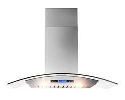 """AKDY - AKDY AK-ZD05 Euro Stainless Steel Wall Mount Range Hood, 30"""", Duct/Pipe - The strength and durability of stainless steel meets the elegance of professional European design in this wall mounted range hood from AKDY. Includes an ultra quiet 760 CFM centrifugal blower, telescopic chimney that fits ceilings measuring between 8 and 8.5 feet, four-speed electronic touch sensitive controls with display, and a dishwasher friendly stainless steel baffle filter to name only a few of it's many features. Throw in a delayed auto shut off, two 35w halogen lights and an optional ductless feature, and you'll discover ease of use you'll quickly fall in love with. High style, professional functionality, and a cost you can afford?? AKDY once again delivers on its promise of excellence."""