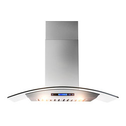 "AKDY - AKDY AK-ZD05 Euro Stainless Steel Wall Mount Range Hood, 30"", Duct/Pipe - The strength and durability of stainless steel meets the elegance of professional European design in this wall mounted range hood from AKDY. Includes an ultra quiet 760 CFM centrifugal blower, telescopic chimney that fits ceilings measuring between 8 and 8.5 feet, four-speed electronic touch sensitive controls with display, and a dishwasher friendly stainless steel baffle filter to name only a few of it's many features. Throw in a delayed auto shut off, two 35w halogen lights and an optional ductless feature, and you'll discover ease of use you'll quickly fall in love with. High style, professional functionality, and a cost you can afford?? AKDY once again delivers on its promise of excellence."
