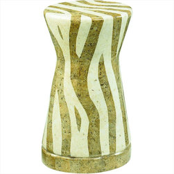 "Hammary - Hidden Treasures Zebra Accent Table - ""Hammary's Hidden Treasures collection is a fine assortment of unique accent pieces inspired by some of the greatest designs the world over. Each selection is rich in Old World icons and traditions."