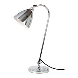 Original BTC - Task Solo Desk Lamp - Polished - Original BTC - Lights that can be moved, angled or adjusted bring greater flexibility and creative scope. The classic British Task range of lights in polished aluminum, red, olive green, putty, white or black-painted aluminium focuses a high level of illumination directly where it is needed. Stable, flexible and solid, shades can be angled and swiveled, to throw either a concentrated pool of light or illuminate a larger area.
