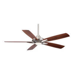 "Minka Aire - Minka Aire F1000-BN Dyno Brushed Nickel 52"" LED Ceiling Fan with Remote Control - Energy Efficient Integrated 17 Watt Dimmable LED Light"